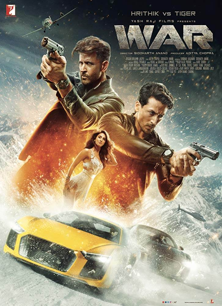 A Poster for Bollywood movie WAR.